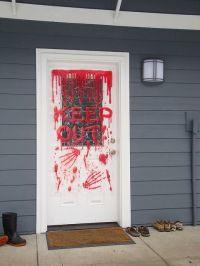 halloween-gory-door-decoration | Halloween Party ...