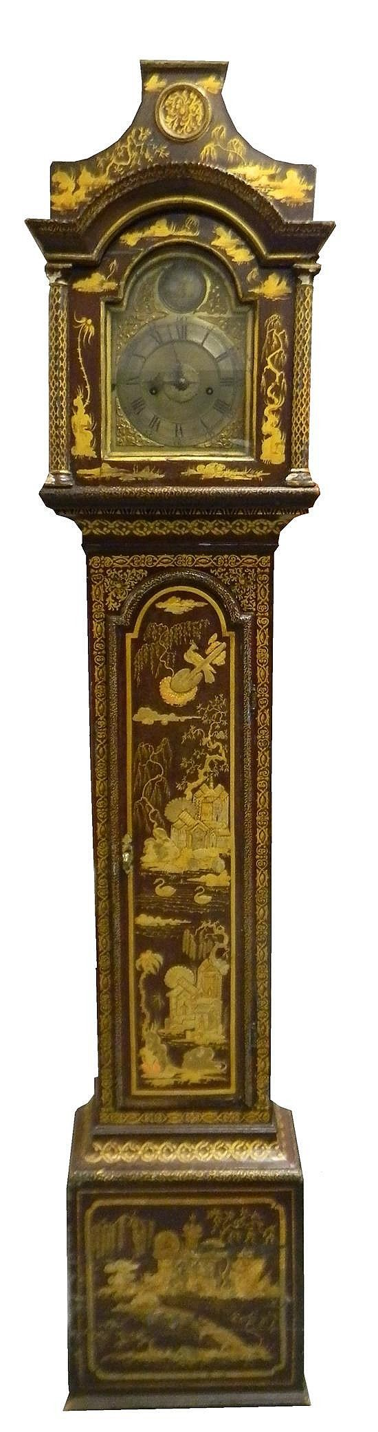 George Iii Chinoiserie Japanned Longcase Clock English, Columns And Arches On Pinterest