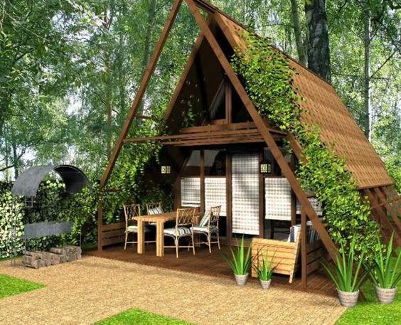 small modern house designs in triangular shape: