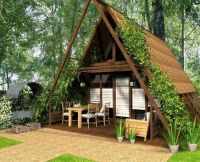 Cute Small House Designs with Gable Roofs and Triangular A