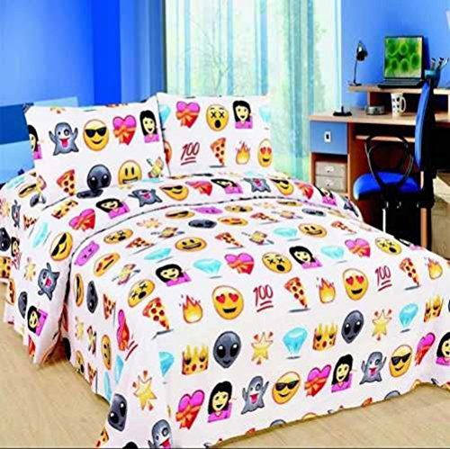 Emoji Design Duvet Cover with Matching Pillow Case Bedding