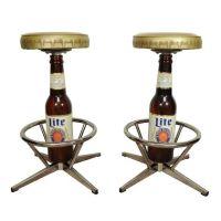 COOL Pair Vtg Miller Lite High Life Beer Bottle Bar Stools ...