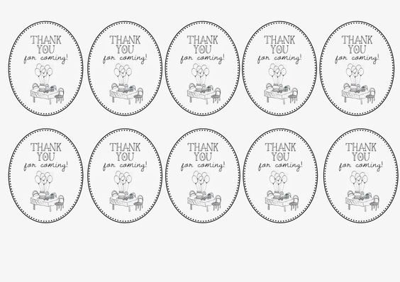 Greatfun4kids: Oval labels for party favors