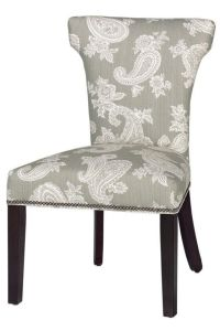 Custom Contemporary Curved-Back Parsons Chair | Sofas ...