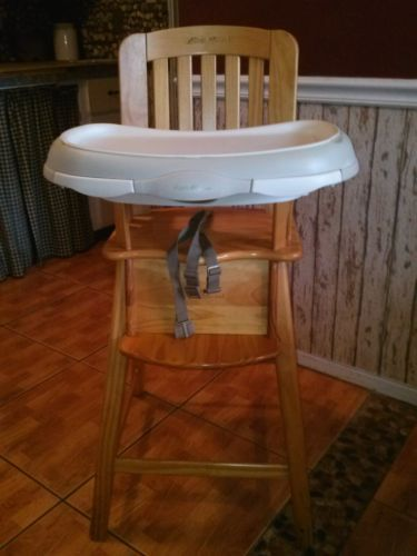 Eddie Bauer High Chair  wooden  MaYbE one DaY