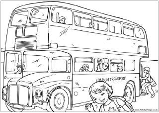 Colouring pages, Routemaster and Buses on Pinterest