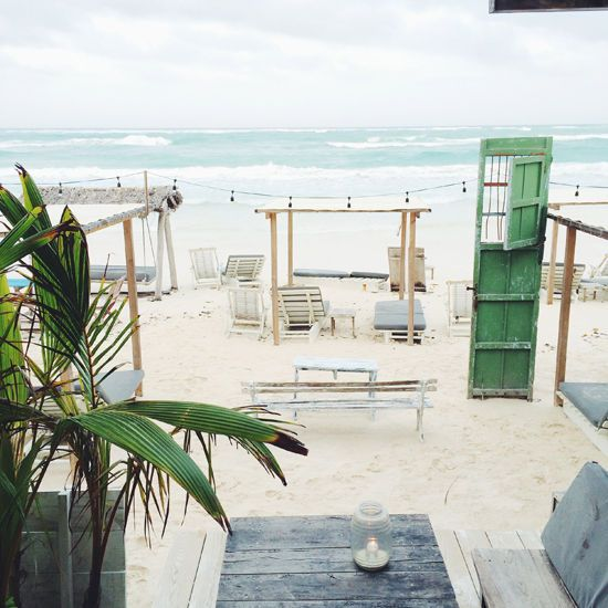 TULUM TRAVEL GUIDE - the first night we went to a restaurant called posada margherita. (above) ginger margaritas, an awesome setting, and delicious pasta.: