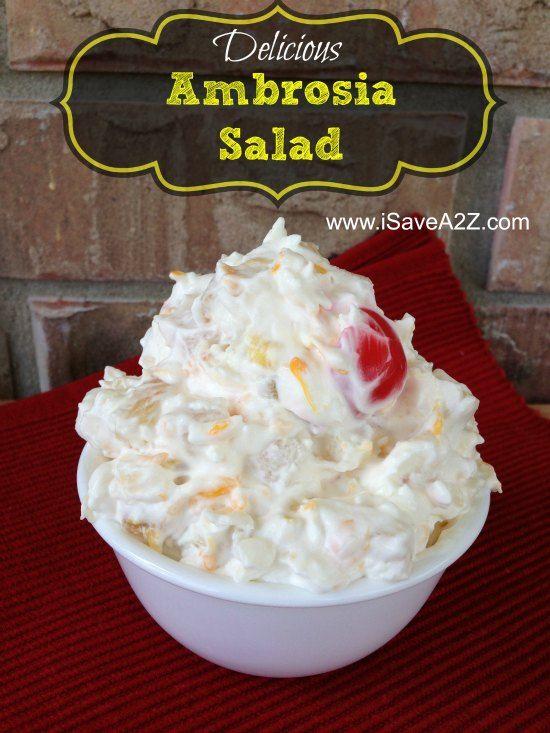 ambrosia salad recipes and salads on pinterest