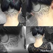"""#flower #hairtattoo #undercut"