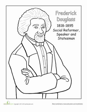 Frederick douglass, Black history month and Worksheets on