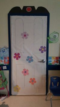 Monster's Inc decorated door | Our bulletin boards ...