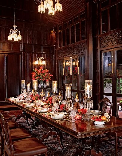 Medieval Dining Room  This is a very dark gothic looking formal dining room too dark for