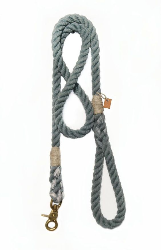 Dog leash pet accessory animal supplies Grey rope by