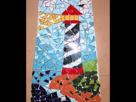 MOSAICO Teja Decorada Con Mosaico De Un Faro YouTube