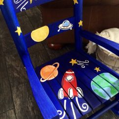 Childrens Rocking Chair Cushions Best Chairs For Lower Back Pain Boys - Rocket Ship Outer Space Child Rocker Kids Child's ...
