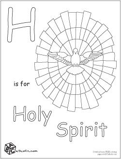 Alphabet coloring pages, Holy spirit and Coloring pages on