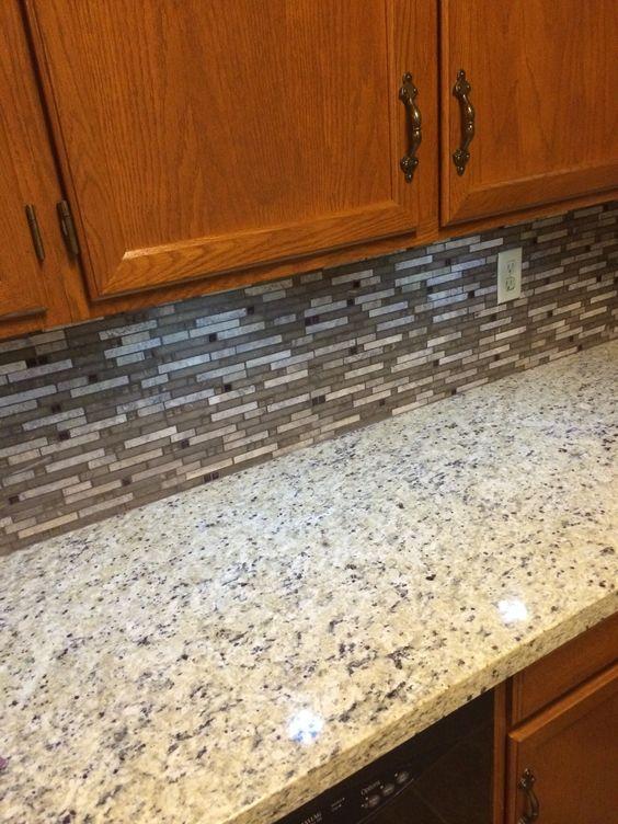 charlotte kitchen cabinets fluorescent light fixtures home depot giallo fiesta granite w/backsplash | backsplash's ...