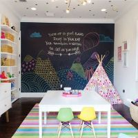 Playrooms, Chalkboard walls and Chalkboards on Pinterest