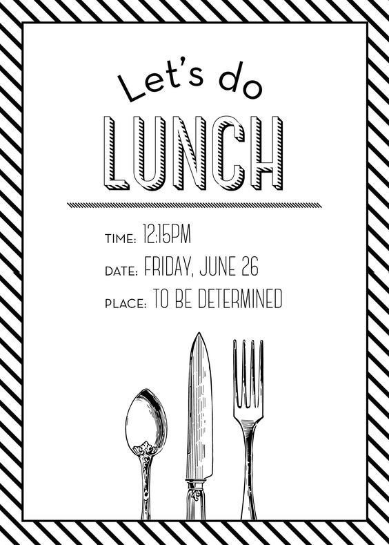 Simple, Lunches and Invitations on Pinterest
