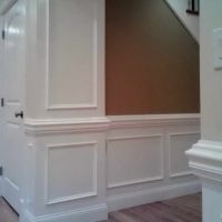 Picture Frame Wainscoting With Heavy Chair Rail. This is ...