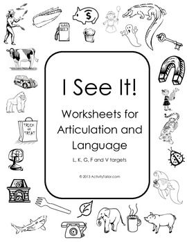 Coloring Worksheets for Articulation of L, K, G, F and V