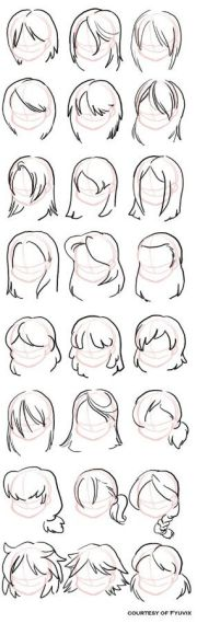cartoon and hairstyles