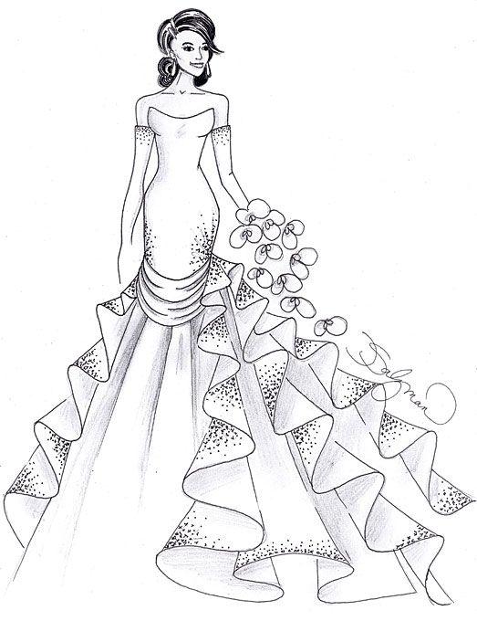 Designer Fantasy Sketches: Kim Kardashian's Wedding Gown