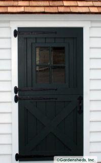 DUTCH DOOR : Black : Dutch Door Hardware : Crossbuck Door ...