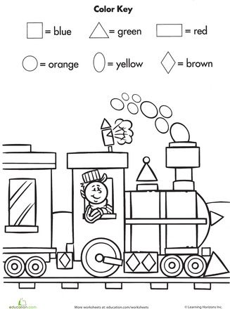 Shape, Worksheets and Colors on Pinterest