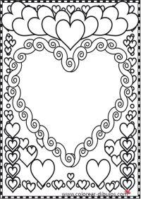 Dibujos de corazones para colorear.Corazones dibujos para ...