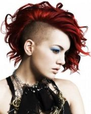 red mohawk hairstyle girls