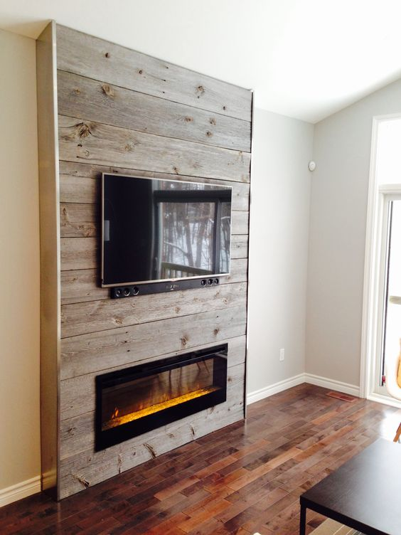Best ideas about Barnwood Fireplace Wall, Fireplace Living