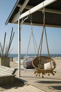 Papasan chair, Swing chairs and Hanging baskets on Pinterest