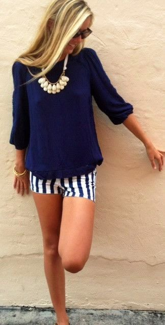 Navy Summer Outfit. Love it!: