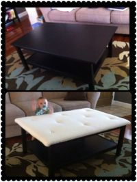 Baby Proof! Upholstered Coffee Table ;) followed this blog ...