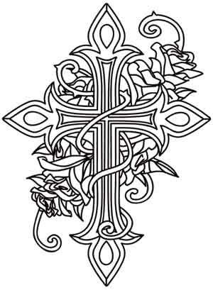 Crosses, Urban threads and Rose design on Pinterest