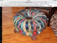 Awesome footstool made from ties
