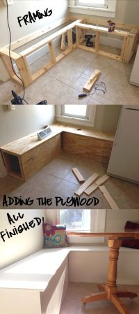 How to build a simple storage banquette. | Rehab Dorks ...