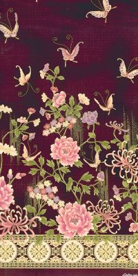 Narumi - Grand Garden Wall - Quilt Fabrics from www ...