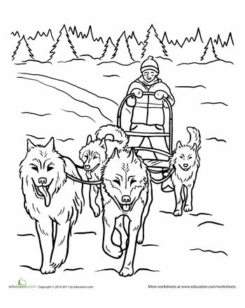 Sled, Life skills lessons and Coloring pages on Pinterest