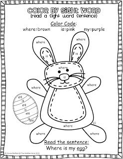Sight words, Easter bunny and Bunnies on Pinterest