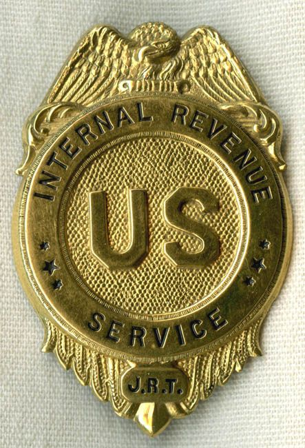 Beautiful Minty 1920sEarly 1930s IRS Internal Revenue Service Agent Badge pPRICE ON REQUEST