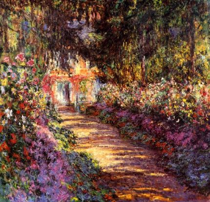 Claude Monet. Pathway in Monet's Garden at Giverny (1902).: