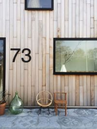 I would like to copy the vertical wood exterior and black ...