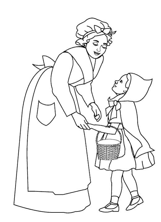 Coloring pages for kids, Red riding hood and Little red on