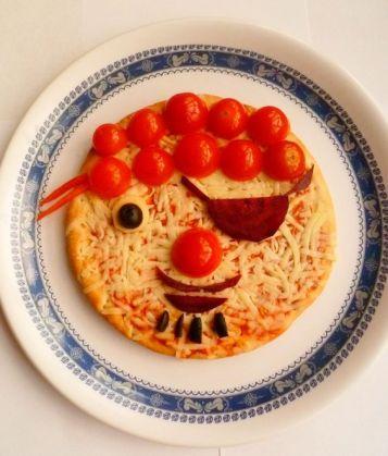 pizza pirata, comida divertida