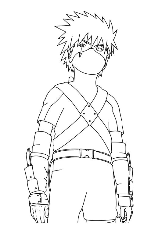 Kakashi, Naruto and Coloring pages on Pinterest