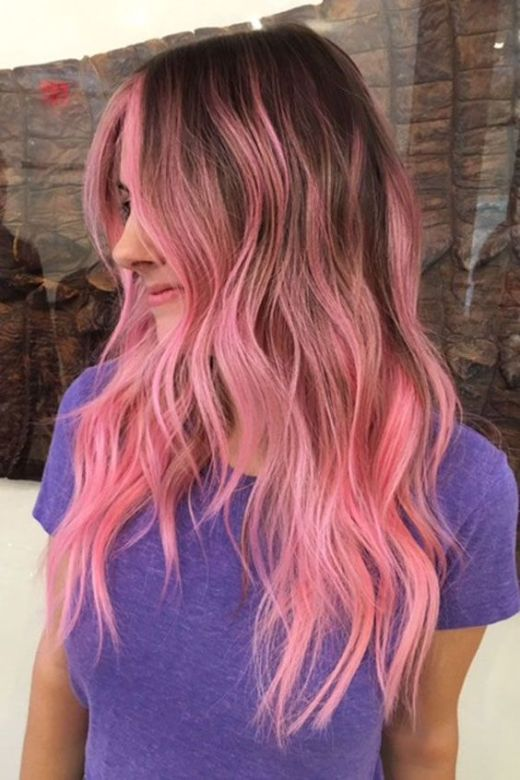 Neon rose gold hairstyles!