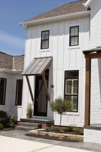 Black trim, White houses and Window on Pinterest