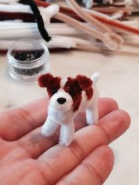 Pipe cleaner Jack Russell Terrier.Pipe cleaner artist ...